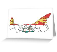Prince Edward Island Flag Map  Greeting Card
