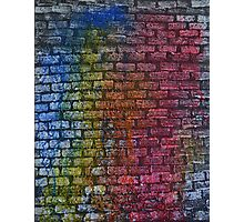 Brick textured wall on canvas ready for graffiti. Photographic Print