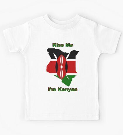 Kiss Me I'm Kenyan Kids Tee