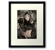 Comic book fantasy Framed Print