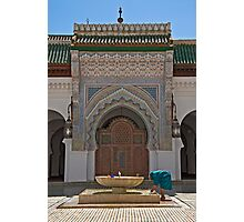 Al-Karaouine University and Mosque at Fes Photographic Print
