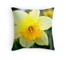 Spring Daffodil Throw Pillow