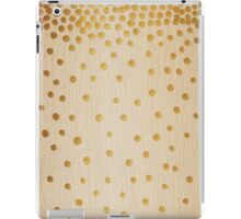Gold Snowstorm on Wood iPad Case/Skin