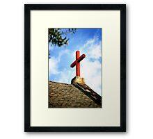 Cross Church Roof Framed Print