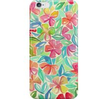 Tropical Floral Watercolor Painting iPhone Case/Skin