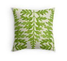 Lime Fern Throw Pillow