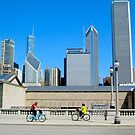 Bikes Among The Buildings Chicago Illinois USA by Jonathan  Green