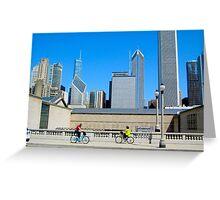 Bikes Among The Buildings Chicago Illinois USA Greeting Card