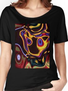 unique grunge cool abstract red hot rod flames Women's Relaxed Fit T-Shirt