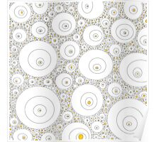 Egg White & Yellow Pattern Poster