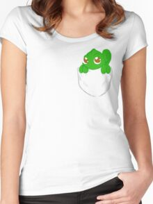 chameleon in my pocket Women's Fitted Scoop T-Shirt