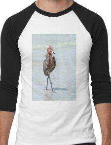 Goofy looking Egret Men's Baseball ¾ T-Shirt