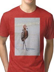 Goofy looking Egret Tri-blend T-Shirt