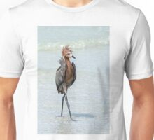 Goofy looking Egret Unisex T-Shirt