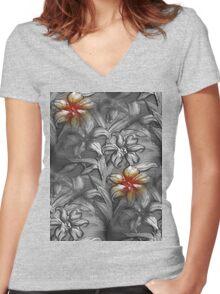Wallflower Women's Fitted V-Neck T-Shirt