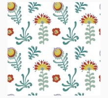 Elegance Seamless pattern with flowers, vector floral illustration in vintage style Kids Tee