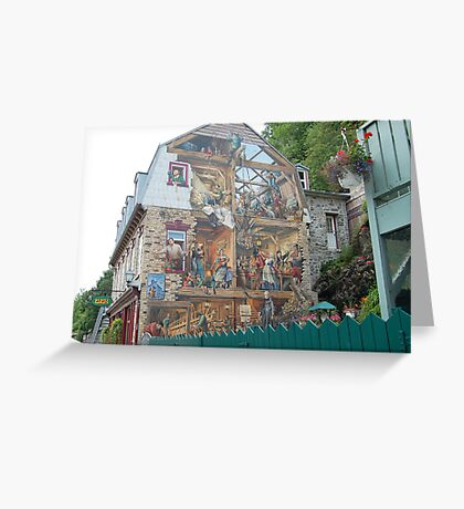 Historic Painting on Building Greeting Card