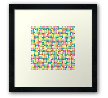 Colorful Tetris Pattern Framed Print
