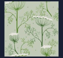 Elegance Seamless pattern with flowers, vector floral illustration in vintage style, Ukraine, dill Kids Clothes