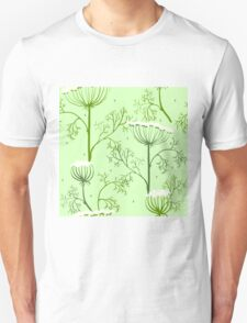 Elegance Seamless pattern with flowers, vector floral illustration in vintage style, Ukraine, dill Unisex T-Shirt