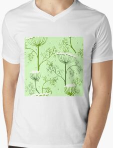 Elegance Seamless pattern with flowers, vector floral illustration in vintage style, Ukraine, dill Mens V-Neck T-Shirt