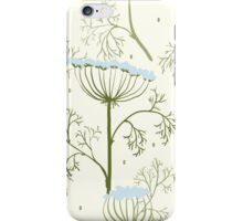 Elegance Seamless pattern with flowers, vector floral illustration in vintage style, Ukraine, dill iPhone Case/Skin