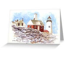 Maine Lighthouse Greeting Card