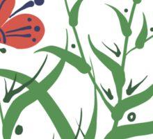 Set of symmetrical floral graphic design elements Sticker