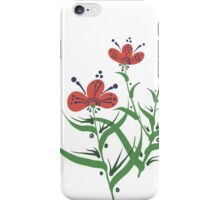 Set of symmetrical floral graphic design elements iPhone Case/Skin
