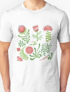 Set of symmetrical floral graphic design elements T-Shirt