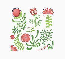 Set of symmetrical floral graphic design elements Unisex T-Shirt
