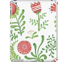 Set of symmetrical floral graphic design elements iPad Case/Skin