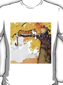 sleeping calvin and hobbes T-Shirt