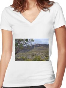 Rolling Fog in McKittrick Canyon Women's Fitted V-Neck T-Shirt