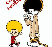 afro calvin and hobes by KattyAnne