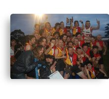 Espy Rockdogs 2009 Community Cup winners Canvas Print