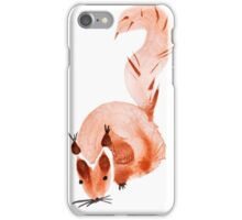 watercolor squirrel. Watercolor hand drawn brush iPhone Case/Skin