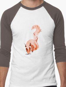 watercolor squirrel. Watercolor hand drawn brush Men's Baseball ¾ T-Shirt