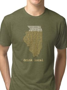 Drink Local - Illinois Beer Shirt Tri-blend T-Shirt