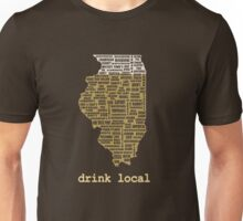 Drink Local - Illinois Beer Shirt Unisex T-Shirt