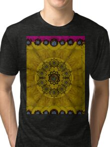 Yin and Yang in pattern and landscape style Tri-blend T-Shirt