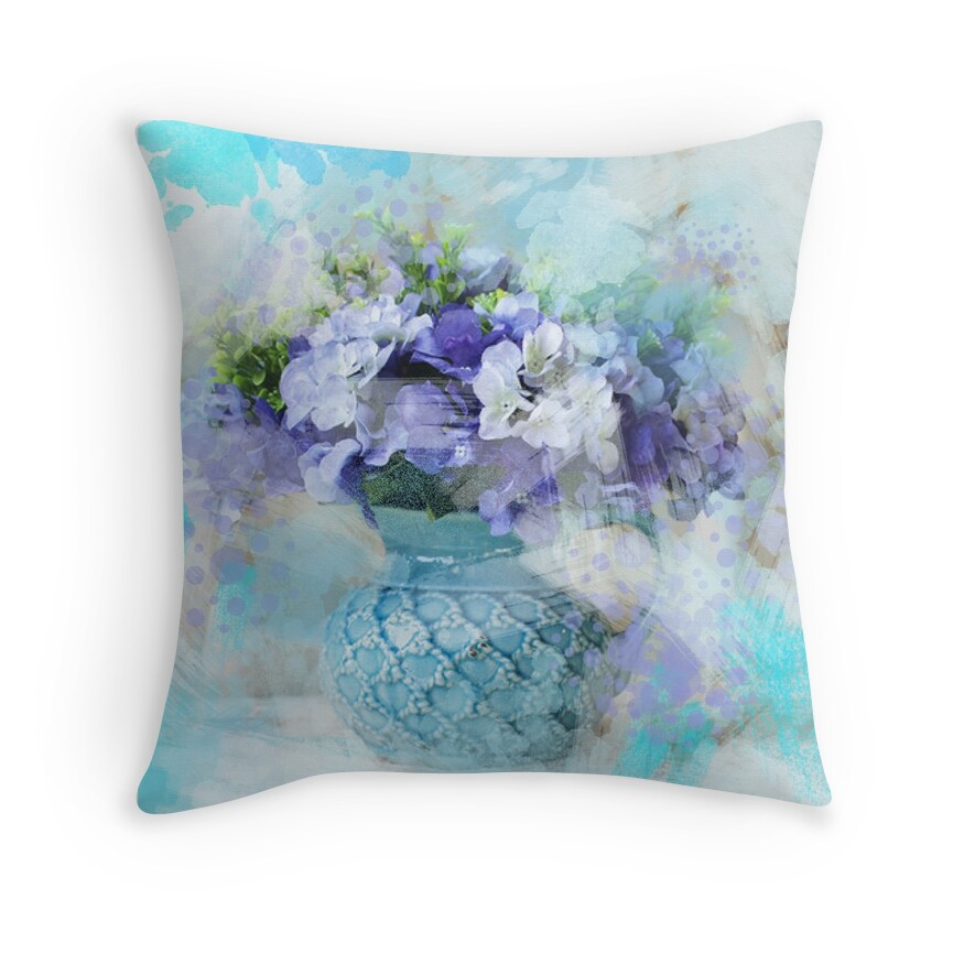 Country Blue Throw Pillows :