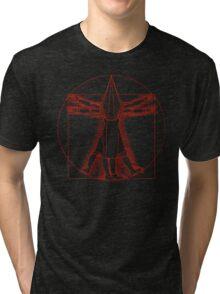 Vitruvian Pyramid Head (Red) Tri-blend T-Shirt