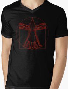 Vitruvian Pyramid Head (Red) Mens V-Neck T-Shirt