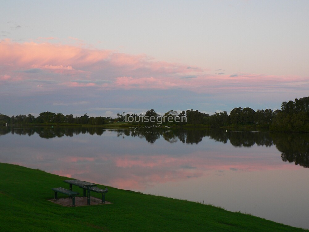 Dusk Light Over The Manning by louisegreen