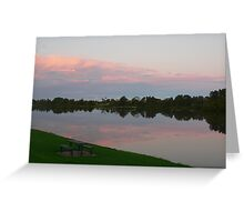 Dusk Light Over The Manning Greeting Card