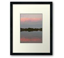 Winter's Pastel Sky, Manning River Framed Print