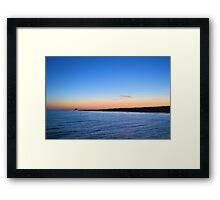 Sunset At The Pier Framed Print