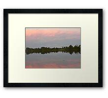 Reflections At Dusk, Manning River Framed Print