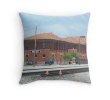 Train Depot Dodge City Kansas Throw Pillow